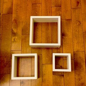 3 wall art cubes- NWOT